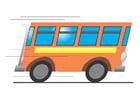 Imagen autobús en movimiento