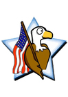 Imagen bandera americana con águila