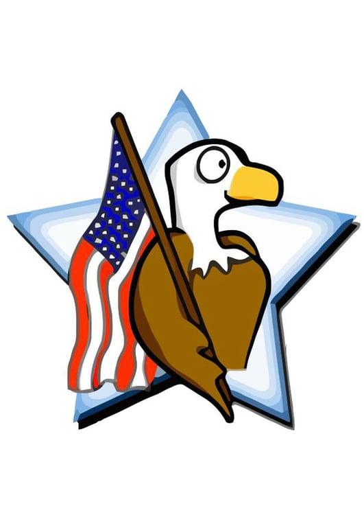 Imagen Bandera De Estados Unidos Con águila Img 19847