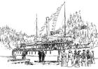 Dibujo para colorear Barco de vapor