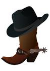 Imagen bota con sombrero