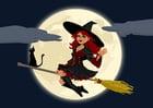 Imagen bruja de halloween