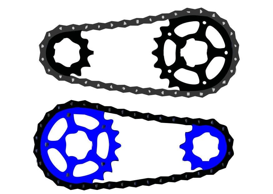 Imagen cadena de bicicleta  Img 27122