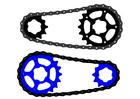 Imagen cadena de bicicleta