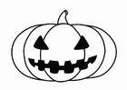 Dibujo para colorear calabaza de Halloween