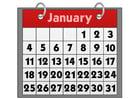 Imagen calendario - enero