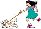 Imagen caminar con el perro