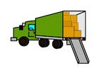 Imagen camión de mudanzas lleno