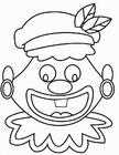 Dibujo para colorear Cara de Zwarte Piet loco