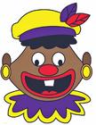 Imagen Cara de Zwarte Piet loco
