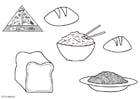 Dibujo para colorear Cereales