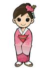 Imagen chica en kimono