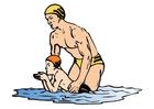 Imagen clase de natación - clase de gimnasia