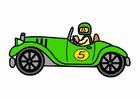 Imagen coche de carreras retro