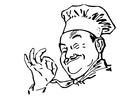 Dibujo para colorear Cocinero