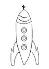 Dibujo para colorear cohete