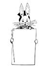 Dibujo para colorear conejo de Pascua