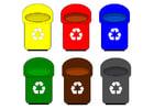 Imagen contenedores de reciclaje