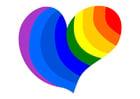 Imagen corazón arcoíris