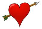 Imagen corazón con flecha
