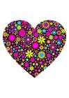Imagen corazón con flores