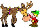 Imagen elfo con reno