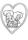 Dibujo para colorear Enamorados