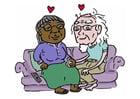 Imagen envejecer juntos