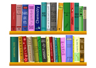Imagen estantería de libros
