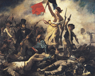 Imagen Eugene Delacroix - La libertad guiando al pueblo - Revolución francesa