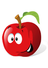 Imagen fruta - manzana roja