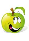 Imagen fruta - manzana verde