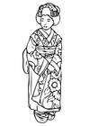 Dibujo para colorear Geisha