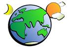 Imagen globo del mundo día y noche