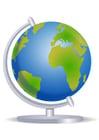 Imagen globo terrestre