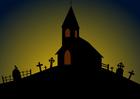 Imagen iglesia de Halloween