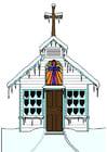 Imagen iglesia en invierno