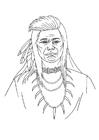 Dibujo para colorear Indio