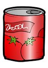 Imagen lata - tomate