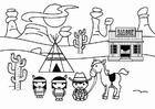 Dibujo para colorear Lejano oeste