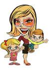 Imagen madre con niños