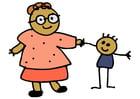 Imagen madre y niño
