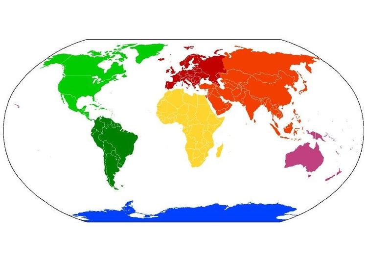 Imagen Mapa del mundo de continentes - Img 8093