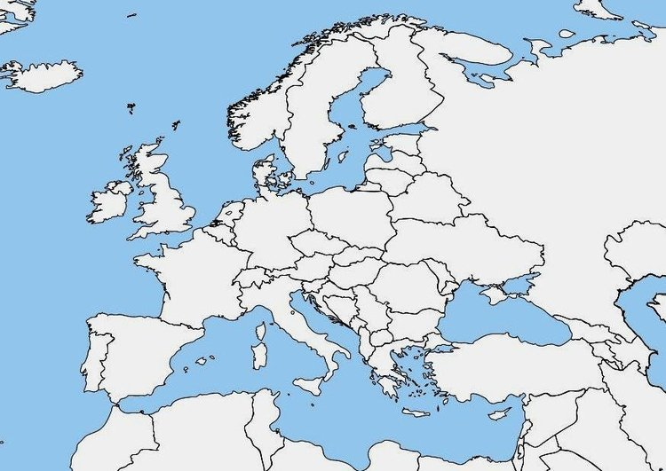 Imprimir Mapa Europa En Blanco.Imagen Mapa En Blanco De Europa Imagenes Para Imprimir Gratis