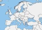 Imagen Mapa en blanco de Europa