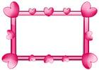Imagen marco de corazones
