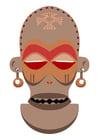 Imagen máscara africana - Zaire-Angola