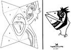 Dibujo para colorear Máscara de cara de pájaro