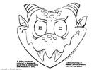 Dibujo para colorear Máscara de dragón