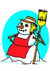 Imagen muñeca de nieve